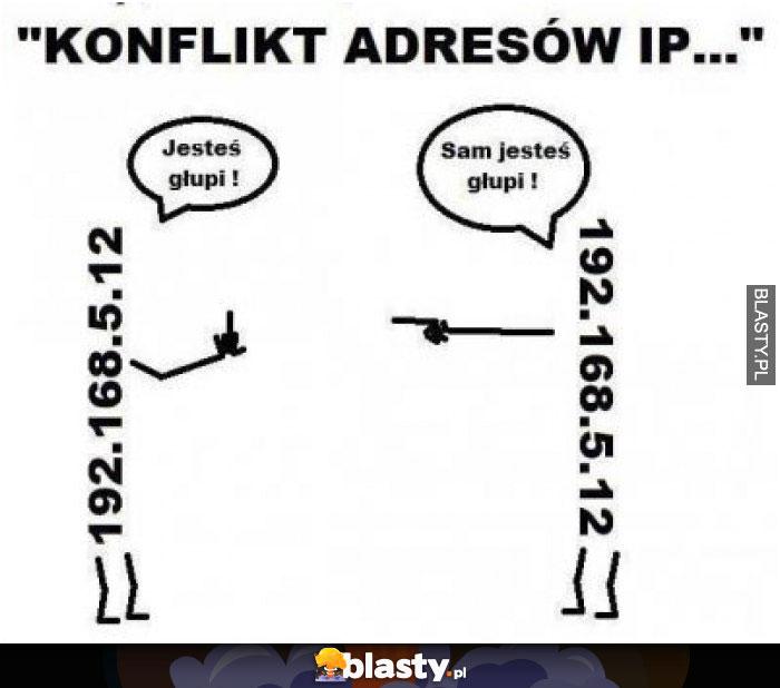 Konflikt adresów IP