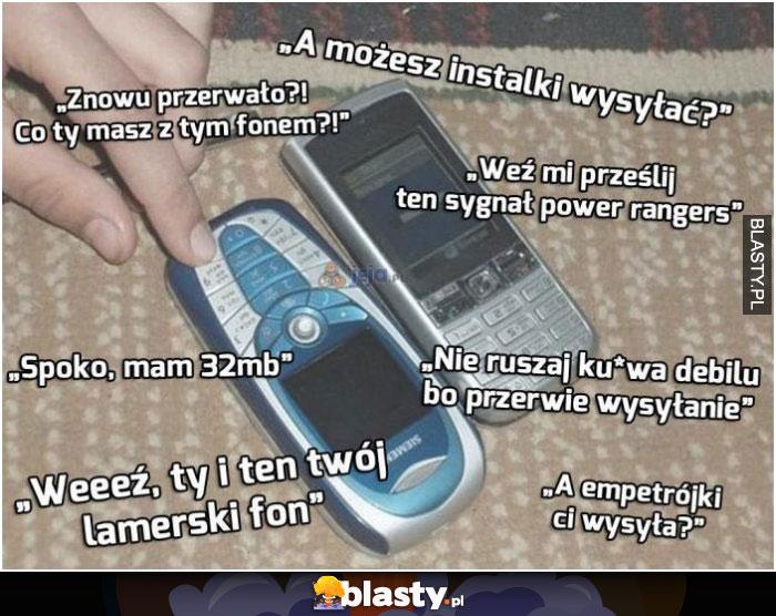 Stare telefony to były czasy
