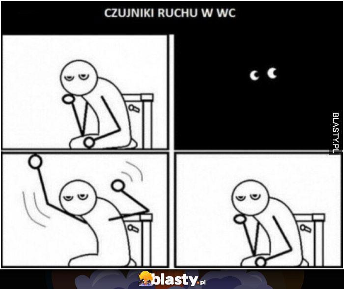 Czujniki ruchu w wc