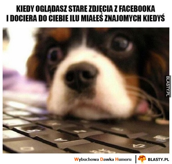 Kiedy oglądasz stare zdjęcia z facebooka