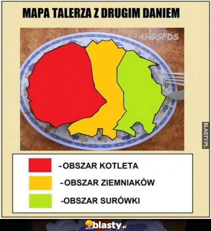 Mapa talerza z drugim daniem