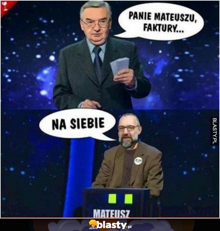 Panie Mateuszu - faktury