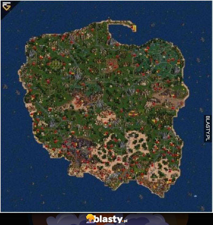 Taką mapę to ja rozumiem - fani heroes3 zrozumieją