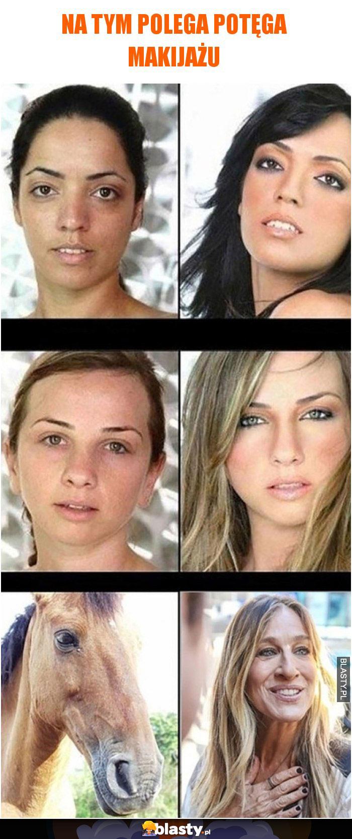 3 zdjęcia pokazujące na czym polega potęga makijażu