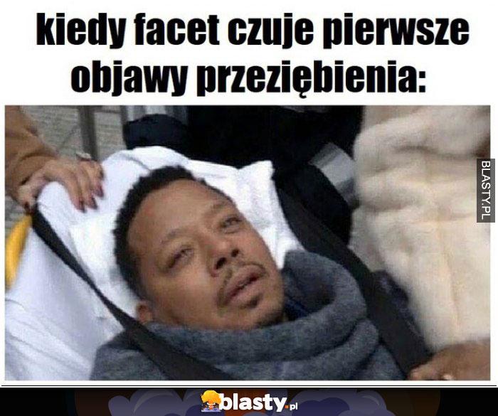 Kiedy facet czuje pierwsze objawy przeziębienia
