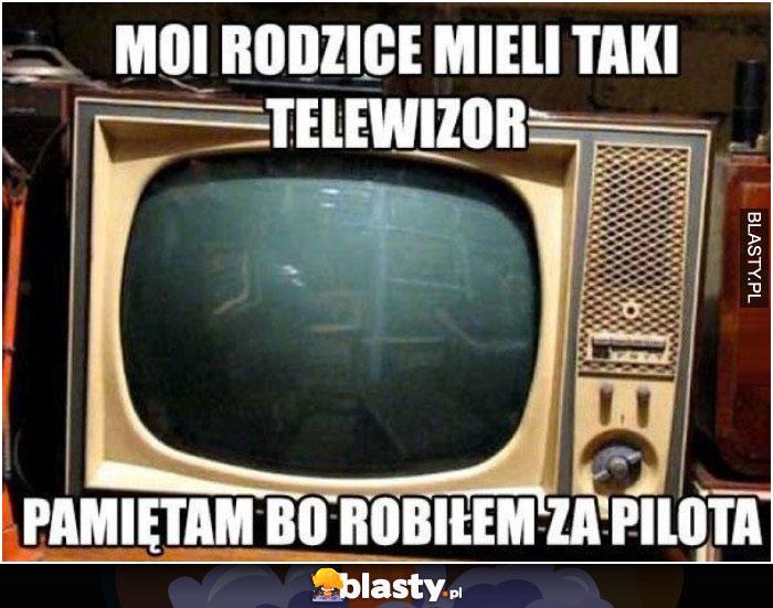 Moi rodzice mieli taki telewizor