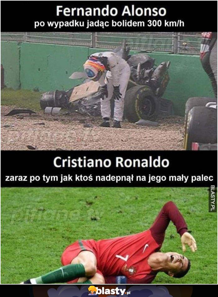 Cristiano Ronaldo mały palec