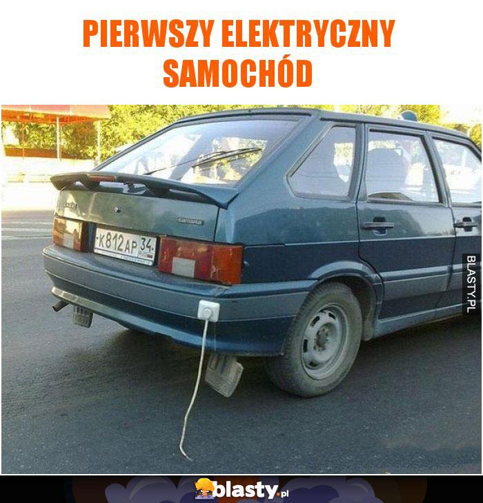 Pierwszy elektryczny samochód