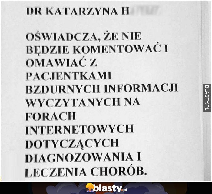Oświadczenie lekarza