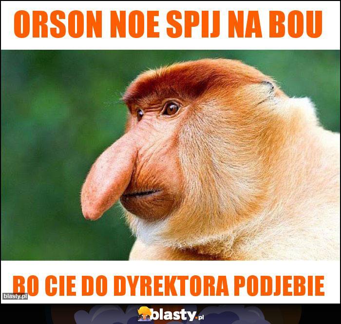 Orson noe spij na bou