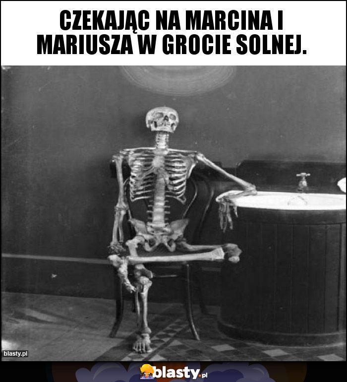 Czekając na Marcina i Mariusza w grocie solnej.