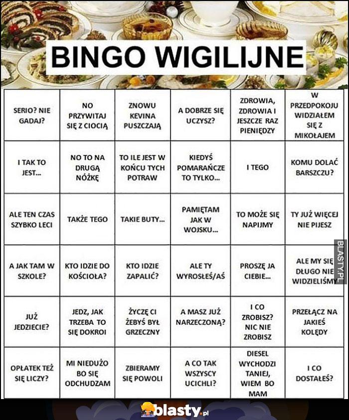 Bingo wigilijne