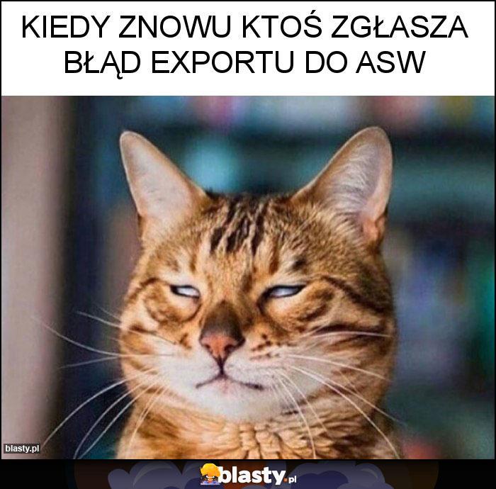 Kiedy znowu ktoś zgłasza błąd exportu do ASW