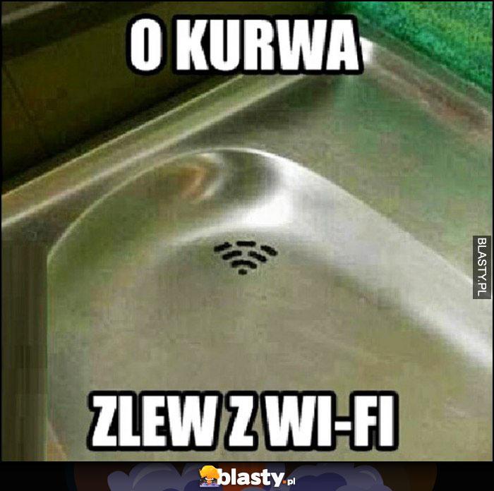 O kurna zlew z wi-fi logo wifi