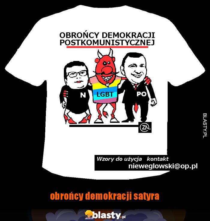 obrońcy demokracji satyra