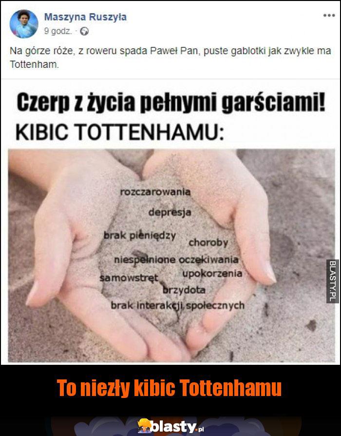 To niezły kibic Tottenhamu