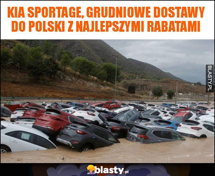 KIA SPORTAGE, grudniowe dostawy do Polski z najlepszymi rabatami