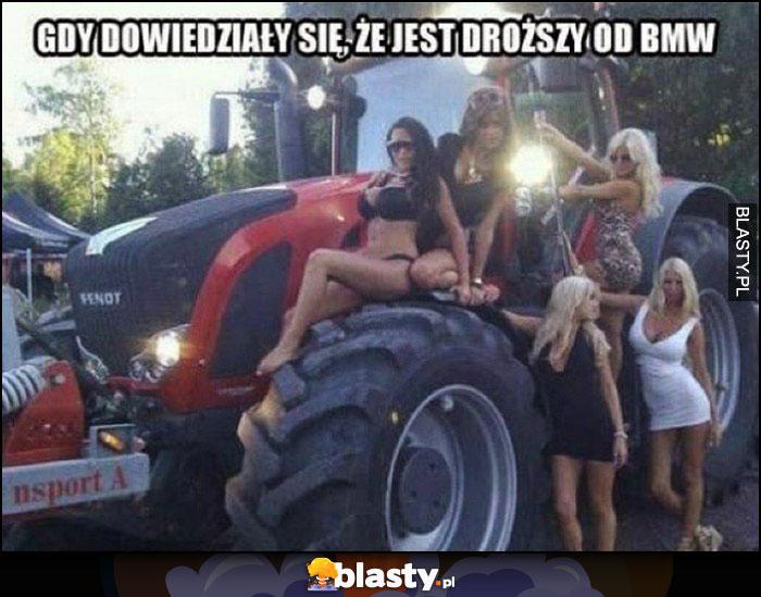 Blachary gdy dowiedziały się, że ciągnik traktor jest droższy od BMW