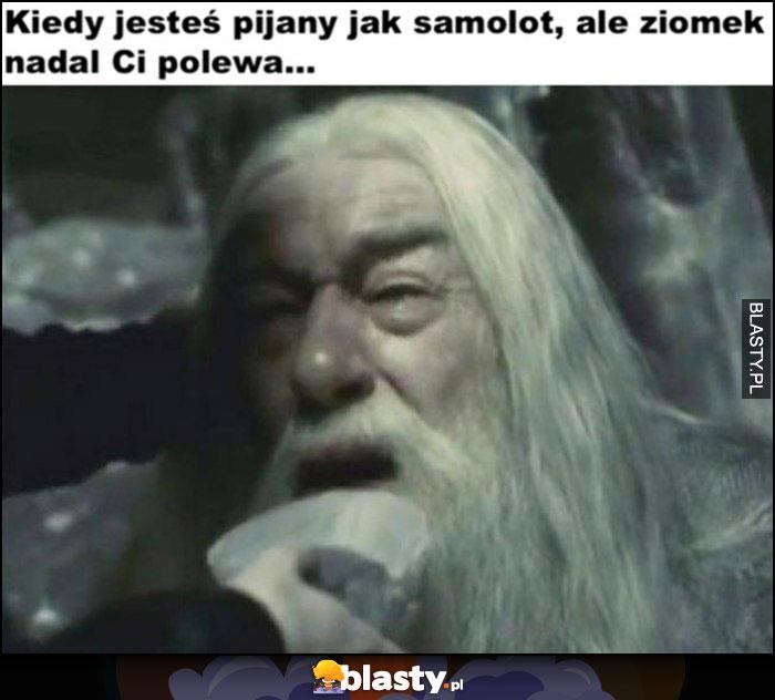 Gandalf kiedy jesteś pijany jak samolot, ale ziomek nadal Ci polewa