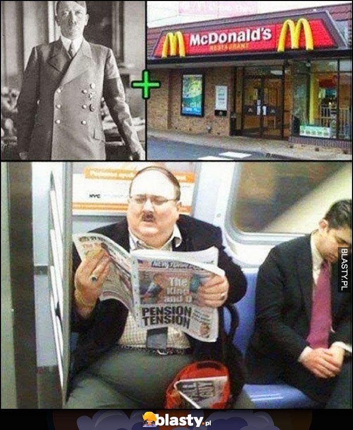 Hitler + Mcdonalds = gruby hitler