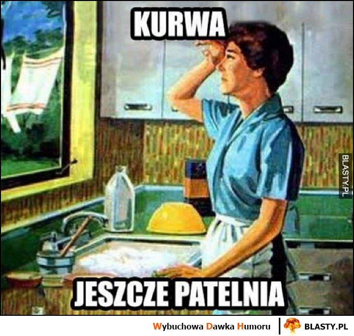 Kurna jeszcze patelnia kobieta zmywanie mycie naczyń