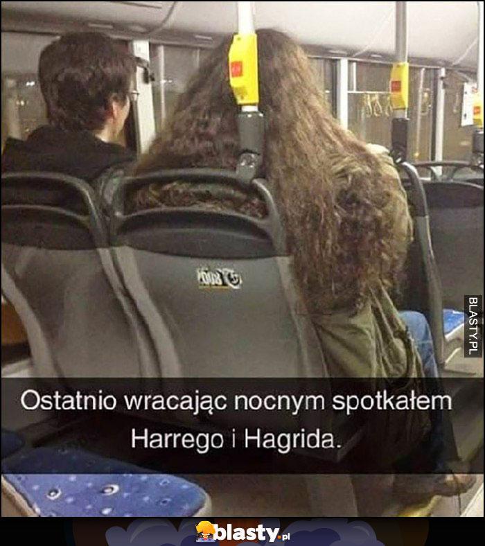 Ostatnio wracając nocnym spotkałem Harrego i Hagrida