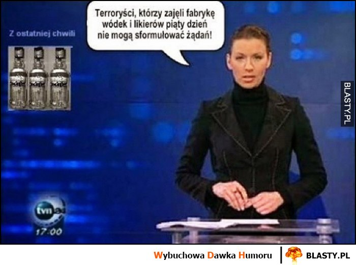 Terroryści, którzy zajęli fabrykę wódki piąty dzień nie mogą sformułować żądań