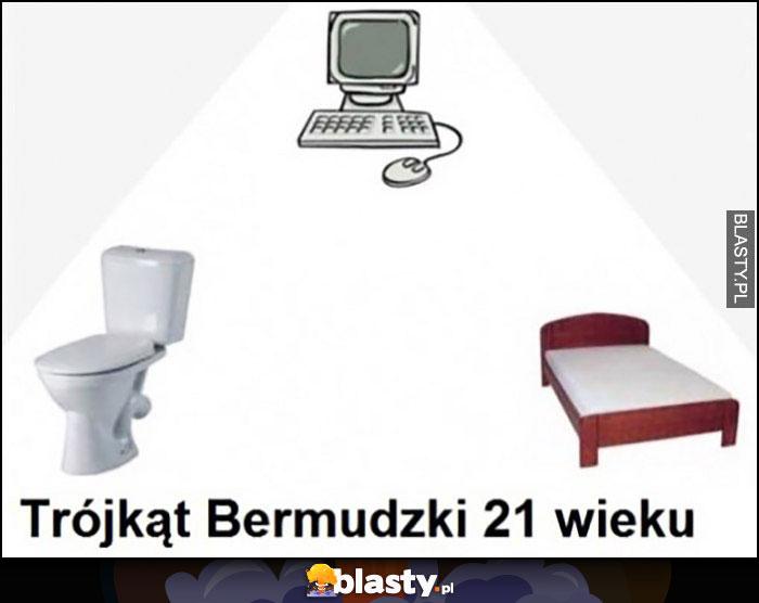 Trójkąt Bermudzki 21 wieku kibel komputer łóżko