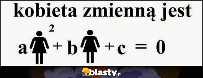 Kobieta zmienną jest równanie matematyczne zmienna