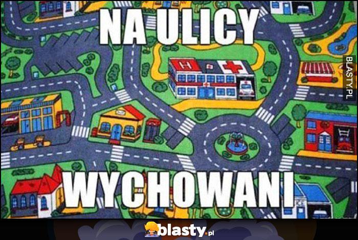 Na ulicy wychowani dywan zabawkowa ulica