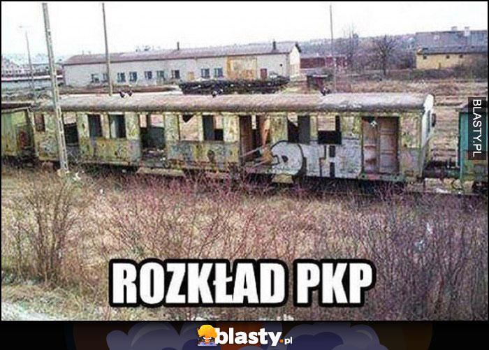 Rozkład PKP na bocznicy pociągi się rozkładają