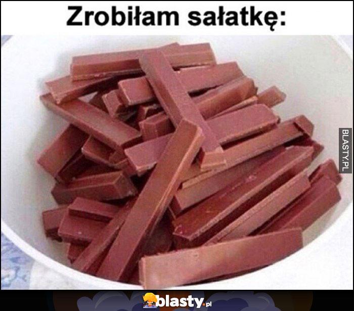 Zrobiłam sałatkę składa się wyłącznie z czekolady
