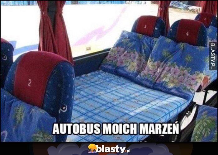Autobus moich marzeń loża vip rozkładane siedzenia do leżenia