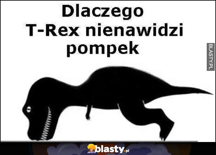 Dlaczego T-Rex nienawidzi pompek, nie sięga łapami do podłogi