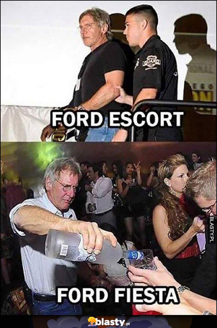 Ford Escort vs Ford Fiesta Harrison Ford