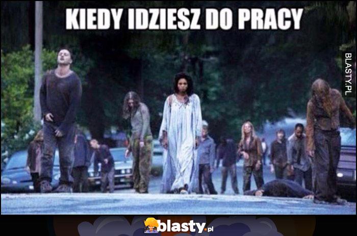 Kiedy idziesz do pracy marsz zombie żywych trupów