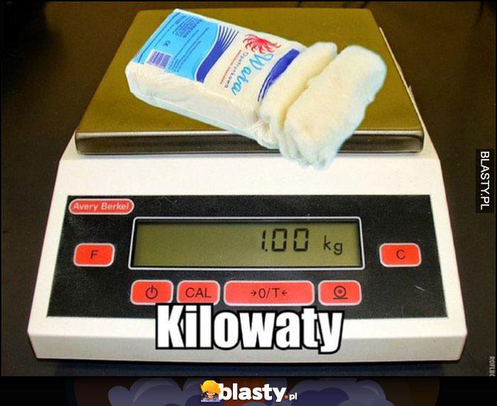 Kilowaty - dosłownie kilogram waty na wadze