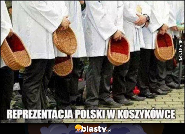 Reprezentacja polski w koszykówce ministranci z koszykami
