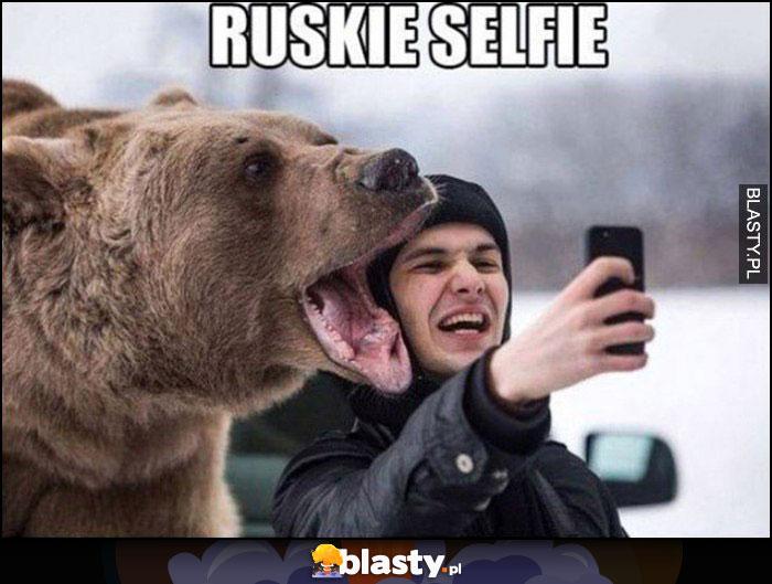 Ruskie selfie z niedźwiedziem brunatnym