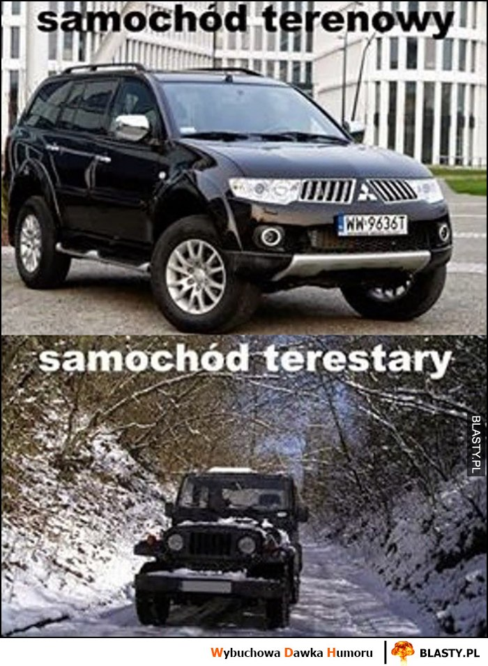 Samochód terenowy vs samochód terestary nowy stary
