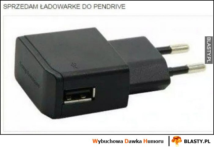 Sprzedam ładowarkę do pendrive port USB