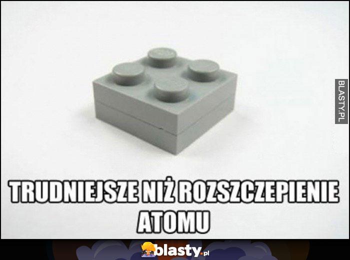 Zczepione klocki LEGO trudniejsze niż rozszczepienie atomu