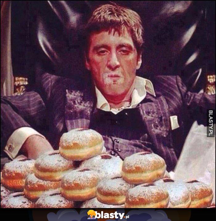 Al Pacino pączki zamiast kokainy Scarface przeróbka