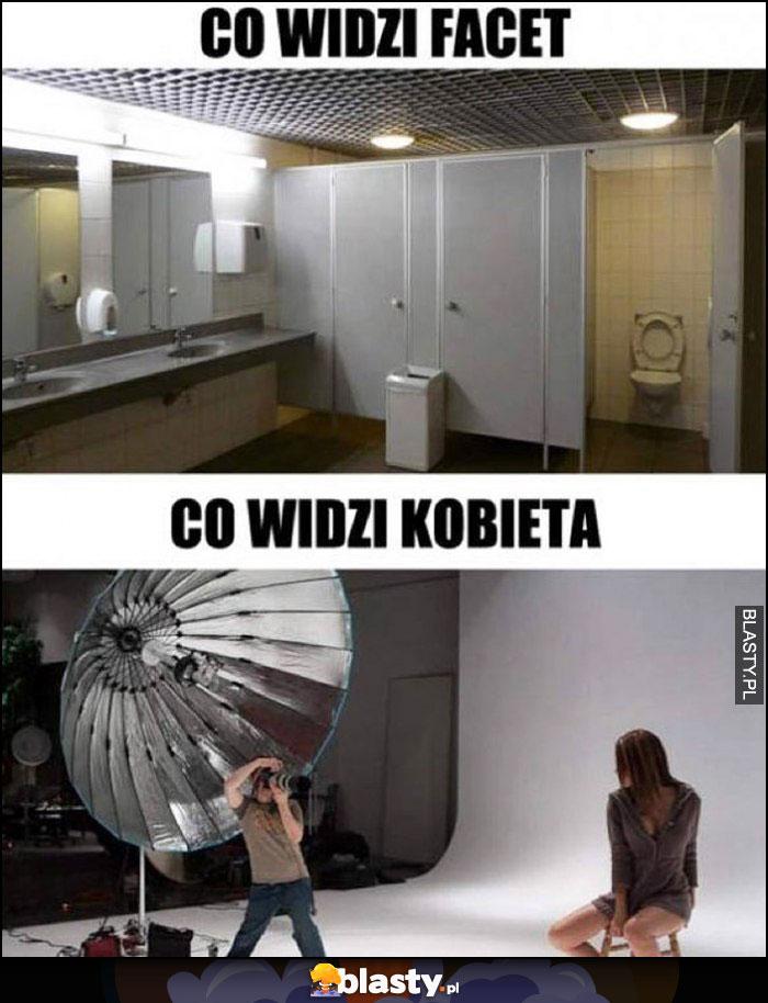 Łazienka kibel co widzi facet vs co widzi kobieta studio fotograficzne do zdjęć