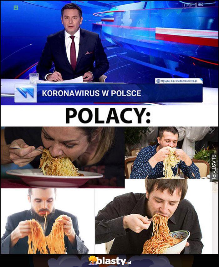 Koronawirus w Polsce, Polacy jedzą makaron