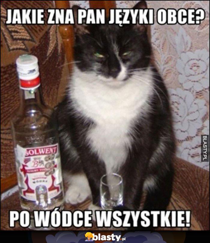 Kot jakie zna pan języki obce? Po wódce wszystkie!