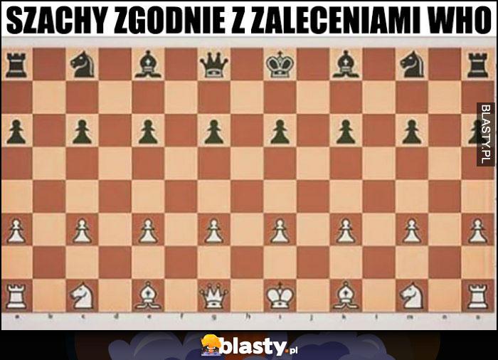 Szachy zgodnie z zaleceniami WHO większy odstęp na szachownicy planszy