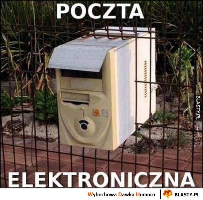 Poczta elektroniczna stary komputer robi za skrzynkę na listy