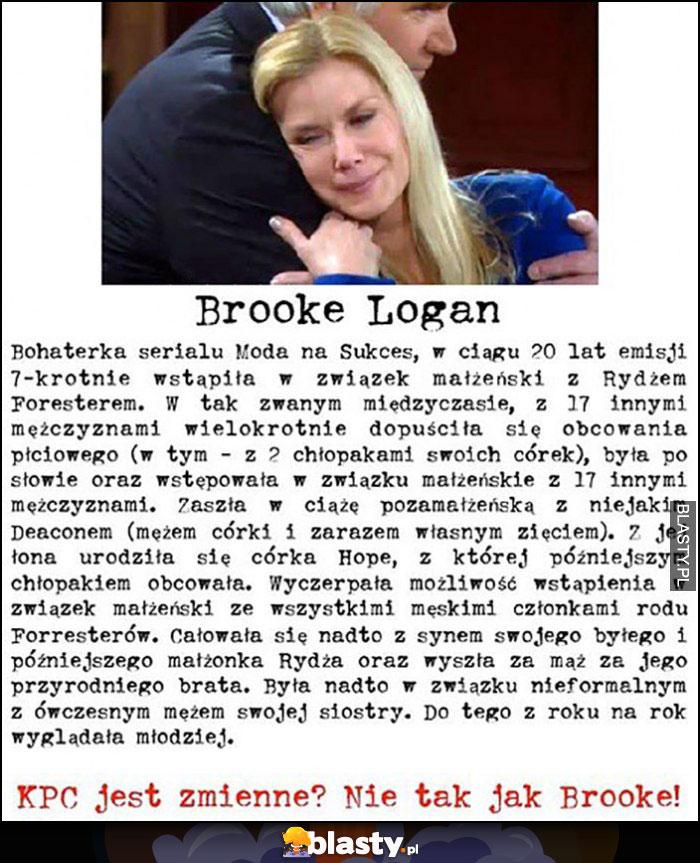 Brooke Logan Moda na Sukces historia związków. KPC jest zmienne? Nie tak jak Brooke!
