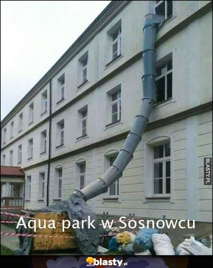 Aquapark w Sosnowcu zjeżdżalnia do śmietnika